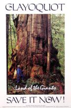 Clayoquot Sound - Save it Now Poster, Mark Hobson