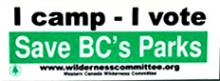 I Camp I Vote bumpersticker